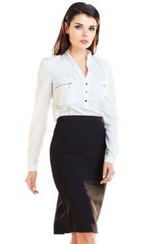 Fusta neagra tip creion cu lungime mini si model decorativ plisat in partea din spate. Se inchide in partea din spate cu ajutorului unui fermoar. Waist Skirt, High Waisted Skirt, Blouse, Long Sleeve, Skirts, Sleeves, Model, Tops, Fashion