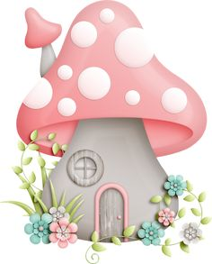 22 New Ideas Garden Fairy Illustration Sweets Mushroom House, Mushroom Art, Clip Art, Decoupage, Diy And Crafts, Paper Crafts, Cute Clipart, Fairy Dust, Painted Rocks