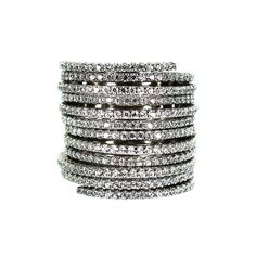 Cylinder Ring – Andreia Fuzon Jewelry White Gold Plated