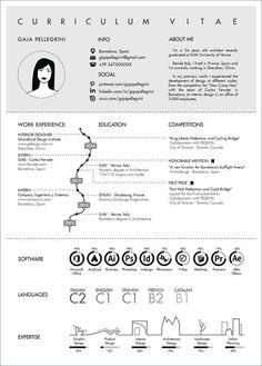 The Top Architecture Résumé/CV Designs,Submitted by Gaia Pellegrini #architectureportfolio