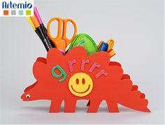 Pot à crayons dinosaure