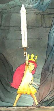 child-of-light-aurora, sword