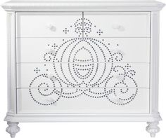 Shop for a Disney Princess White Jeweled Carriage Chest at Rooms To Go Kids. Find  that will look great in your home and complement the rest of your furniture. #iSofa #roomstogo
