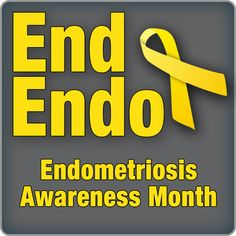 March is Endometriosis Awareness month. It's a ghost of a disease that you can't see and has no cure. Step 1 is awareness. #Endometriosis #EndEndo
