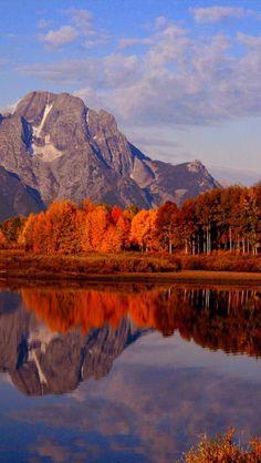 Autumn, Ox Bow Bend, Snake River, Mt. Moran, Grand Teton National Park, Wyoming