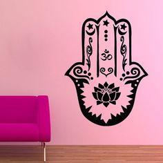 Fatima Hand Wall Decals Indian Hamsa Hands by WallDecalswithLove