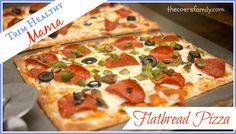 Trim Healthy Mama flatbread pizza