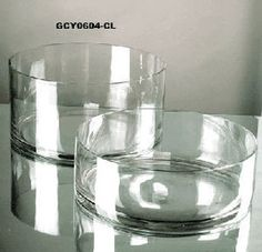 """Wholesale Event Solutions - 6"""" x 4"""" Cylinder Glass Vase - Case of 12, $96.00 (http://www.eventswholesale.com/6-x-4-cylinder-glass-vase-case-of-12/)"""