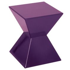 Edge Funky Purple High Gloss Lacquered End Table