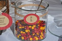 Fall Shower Candy Bar M&Ms