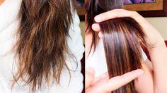 Astuce rapide pour des pointes de cheveux fortes et sans fourche