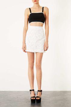 #Topshop                  #Skirt                    #Applique #Flower #A-Line #Skirt #Topshop           Applique Flower A-Line Skirt - Topshop USA                                    http://www.seapai.com/product.aspx?PID=360928
