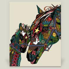 Fun Indie Art from BoomBoomPrints.com! http://www.boomboomprints.com/Product/scrummy/horse_love_stone/Art_Prints/8x10_Print/