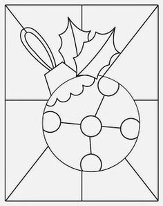 Christmas ornament pattern! Fun and don't put this on your tree if you have kids! Difficulty- Hard if background included.