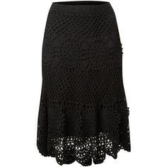 Biba Crochet knitted skirt ($49) ❤ liked on Polyvore