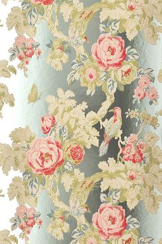 Anna French  Birds in the bush foil (Wild Flora Collection)  £87.62 from Wallpaper Direct