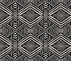 Black and White Geometric fabric by crystal_walen on Spoonflower - custom fabric