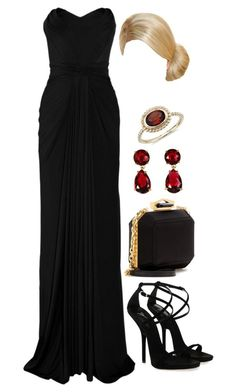 """""""Untitled #3771"""" by natalyasidunova ❤ liked on Polyvore featuring Zac Posen, Giuseppe Zanotti, Alexander McQueen, Kate Spade and Blue Nile"""