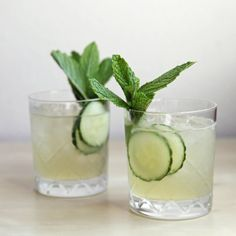 Pin for Later: 15 Gin-Based Cocktails That Aren't a Gin and Tonic Cucumber-Mint Gin Cocktail Think of this cucumber-mint sipper as the gin lover's answer to the mojito.