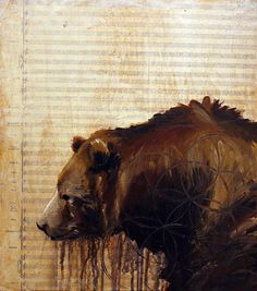 """Grizzley Bear"" by Optimist. For more info, visit 1AMGallery.com or email maya@1amsf.com."
