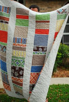 Loving this modern quilt and the fabric!