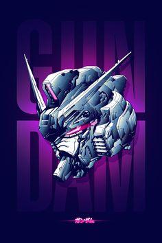 Digital Illustration of a Gundam head. Gundam Head, Gundam Wing, Gundam Art, Zero Wallpaper, Samurai Artwork, Gundam Wallpapers, Frame Arms, Custom Gundam, Gundam Model