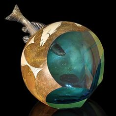 Creative and unique art glass sculpture by Hiroshi Yamano at Pismo Fine Art Glass.