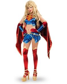 DC Comics Ame-comi Heroine Series Secret Wishes Supergirl Costume -- Supergirl is one of my favorite TV shows! You can look strong and sexy in this super girl halloween costume! Carrie Halloween Costume, Costumes Sexy Halloween, Anime Costumes, Halloween Fancy Dress, Girl Costumes, Adult Costumes, Costumes For Women, Supergirl Halloween, Costume Ideas