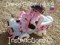 Instructions-how to make a Diaper4 x4-GR8 for Military Moms. Baby shower Centerpiece-Keepsake. by DiaperZooDesigns on Etsy https://www.etsy.com/listing/62156266/instructions-how-to-make-a-diaper4-x4