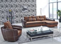 The Suede leather sofa s uniquely designed with two tone colour choice and has a spacious layout to suit the modern family. Its upgraded features such as the top grain cowhide leather, wooden square legs and matching swivel director's chair make it a sofa to die for.