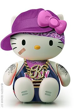 A gangsta hello kitty Sanrio Hello Kitty, Chat Hello Kitty, Hello Kitty Items, Here Kitty Kitty, Hello Kitty Imagenes, Hello Kitty Characters, Miss Kitty, Hello Kitty Collection, Illustrations Posters