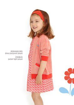 Dis Une Couleur - RODIAMS RED DRESS + PANTS Red Dress Pants, Elegant Outfit, Little Ones, Style Inspiration, Summer Dresses, Fabric, Kids, Clothes, Fashion
