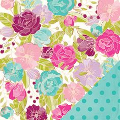 Living Room Wallpaper Ideas - American Crafts - Dear Lizzy Serendipity Collection - 12 x 12 Double Sided Paper - Hello Beautiful