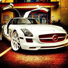 Look at those Gullwings - this is how the Mercedes SLS rolls. Build your profitable business then reward yourself with this hot ride. I just may :)!!!