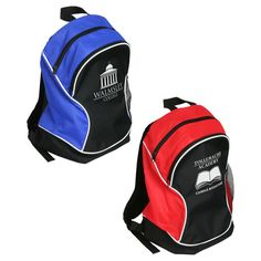 Pack Leader backpack. Made with sturdy 600D polyester and crossing non-woven fabric. Padded, adjustable shoulder straps. Zippered front pocket with 210D polyester lining. Side mesh water bottle pocket. Zippered main compartment.