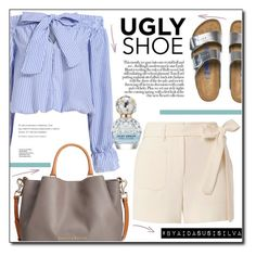 """""""Ugly (But Chic?!) Shoes"""" by aidasusisilva ❤ liked on Polyvore featuring Birkenstock, Dooney & Bourke, Helmut Lang, Marc Jacobs and uglyshoes"""