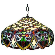 @Overstock.com - Tiffany-style Ariel Hanging Ceiling Fixture - Tiffany-style Ariel ceiling fixture is sure to brighten your home decorThe primary color of this light is amberLighting is sure to dress up any room in your home or office  http://www.overstock.com/Home-Garden/Tiffany-style-Ariel-Hanging-Ceiling-Fixture/4378434/product.html?CID=214117 $102.99