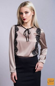 Tissu емании plus de photos ok. Dressy Tops, Casual Tops, Blouse And Skirt, Blouse Dress, Silk Dress, Classy Casual, Classy Dress, Hijab Fashion, Fashion Outfits