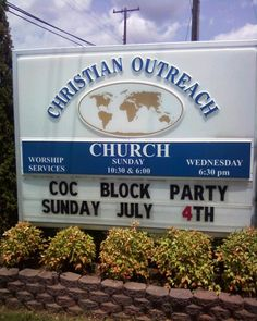 Unintentional sexual church sign.