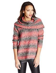 72ebd3dba223 V28® Women Polo Neck Knit Stretchable Elasticity Long Sleeve Slim Sweater  Jumper at Amazon Women s