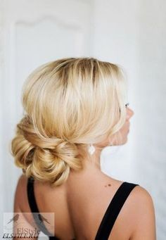 low updo hairstyle for wedding / http://www.deerpearlflowers.com/wedding-bridal-hairstyles-for-long-hair/