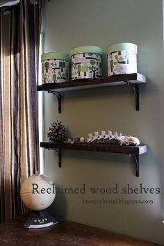 Make these West Elm knock-off shelves from scrap wood and inexpensive brackets: step by step tutorial