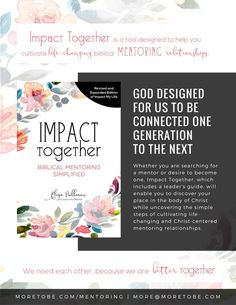 Since January of 2012, we have been offering online mentoring trainingopportunities for women passionate about growing as mentors in the area of ministry God has called them to serve. Learn more about how we can help you grow as a mentor!