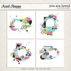"""""""You Are Loved"""" Templates by Two Tiny Turtles #digitalscrapbooking #digitalscrapbookingtemplates"""