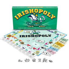 There's nothing like College memories. Irishopoly is a great gift and fun to play. Plays like Monopoly but is customized for the University of Notre Dame campus. Perfect for grads and alums! Choose traditional play or one hour version.  $24.99  http://www.calendars.com/Notre-Dame-Fighting-Irish/Notre-Dame-Irishopoly/prod1289218/?categoryId=cat00660=cat00660#