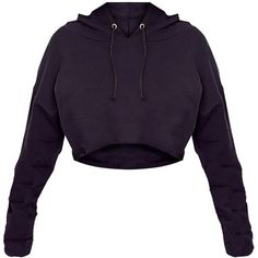 Shape Caila Black Cropped Stripe Detail Hoodie ($40) ❤ liked on Polyvore featuring tops, hoodies, cropped hooded sweatshirt, crop top, hooded pullover, sweatshirt hoodies and hoodie top #fashionhoodieswomens