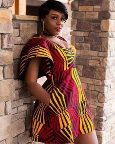 Beautiful african print short ankara gown styles, ankara gowns that are short and stylish, sexy short ankara gown designs #ankara #ankarastyles #asoebi #asoebibella #africanprint #africanfashion