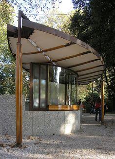 Ticket Booth. Carlo Scarpa, Biennal Sculpture Space, Venice, Italy. 1952