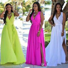 Women Sexy Summer Dress Boho Maxi Long Party