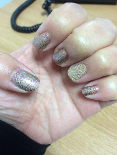 Bronze Glitter & Caviar Beads